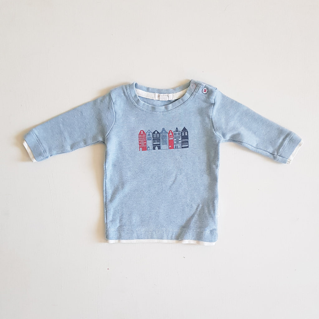 THRIFT Purebaby - Blue Sweater Size 000