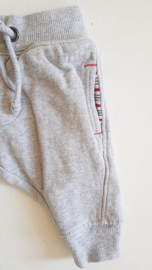 THRIFT Purebaby - Grey Track Pants Size 000