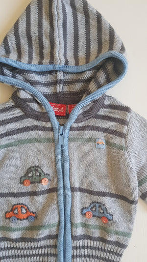 THRIFT Sprout - Vintage Cars Cardigan Size 000