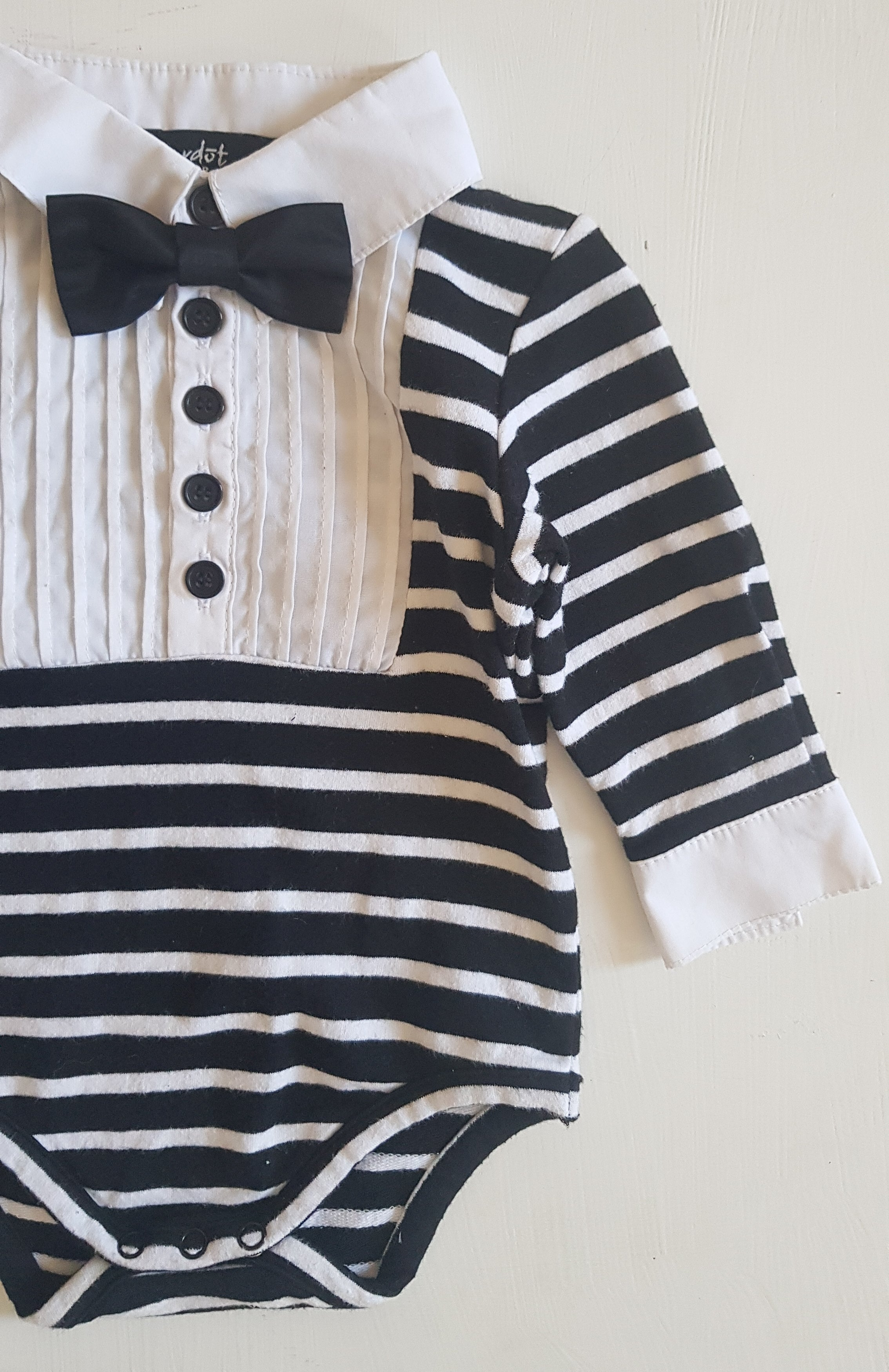 THRIFT Bardot Junior - Suit Stripe Romper Size 00