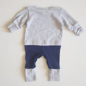 THRIFT Fox & Finch Baby - Elephant Winter Romper Size 0000