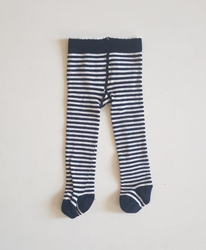 THRIFT Marquise - Navy Strips Tights Size NB