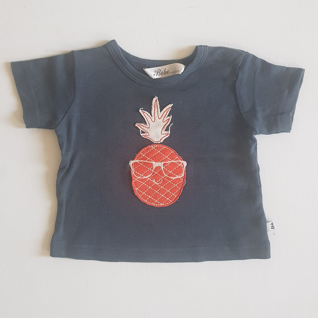 THRIFT Bebe by minihaha - Cool Pineapple Shirt Size 00