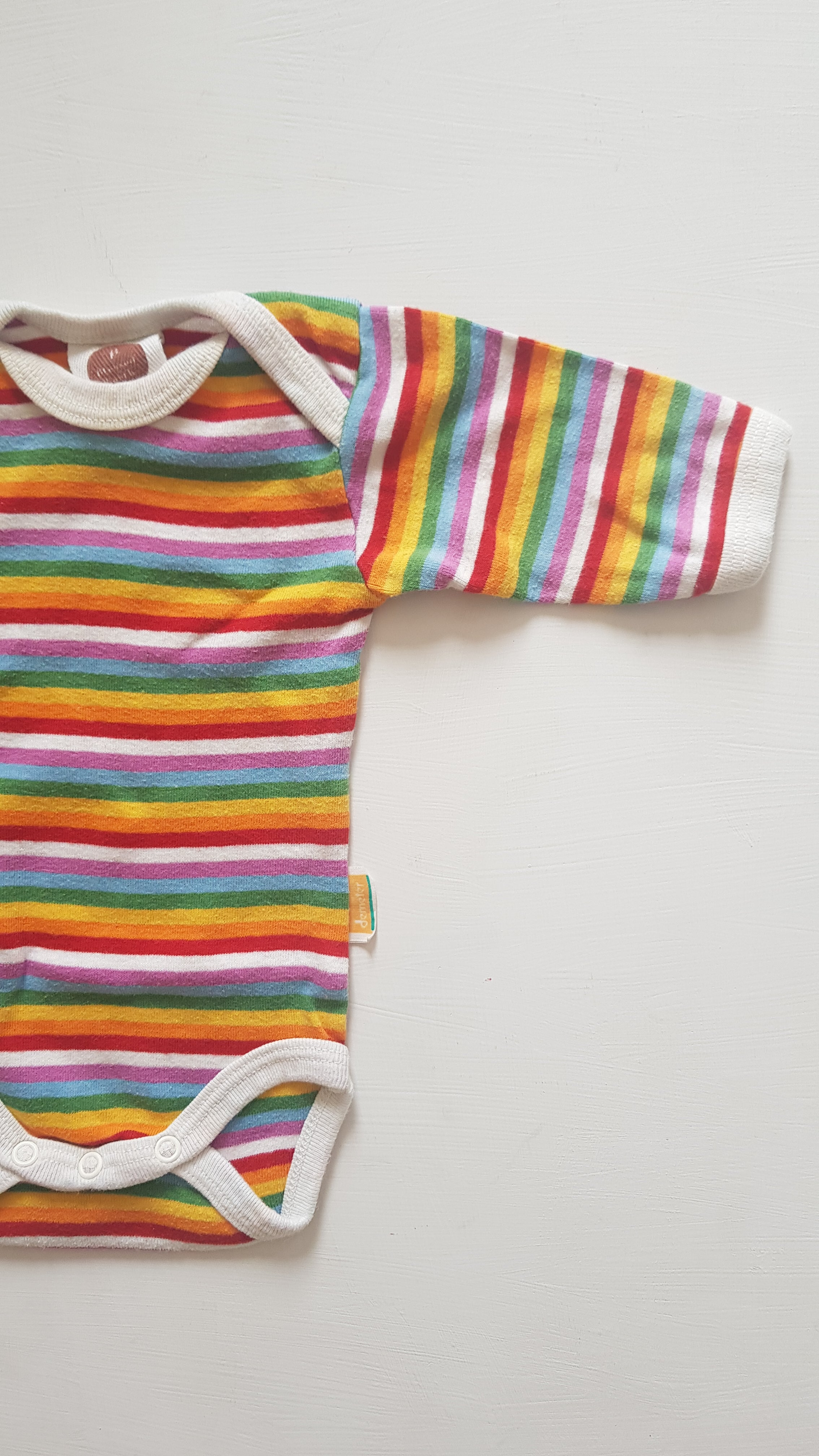 THRIFT Blessed Earth - Rainbow Stripe Romper Size 000
