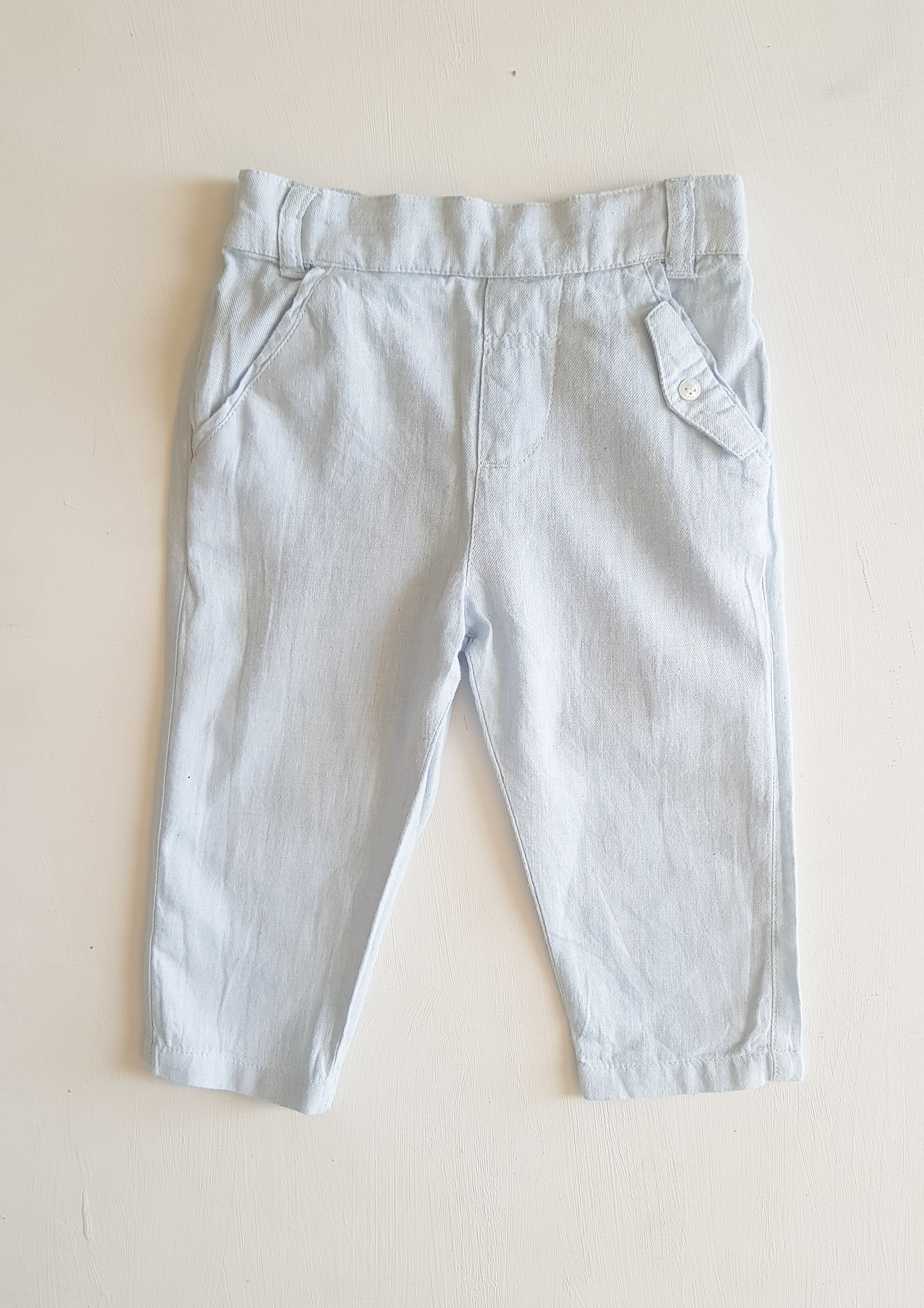 THRIFT Purebaby - Pale Blue pants Size 0
