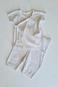 THRIFT Purebaby Two Piece Casual Set- Size 0-3 months