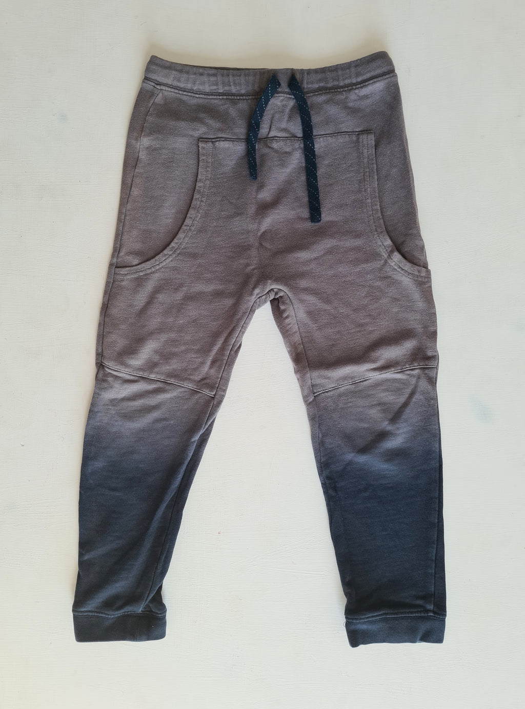 THRIFT Fred Bare - Grey and Blue trackpants Size 6