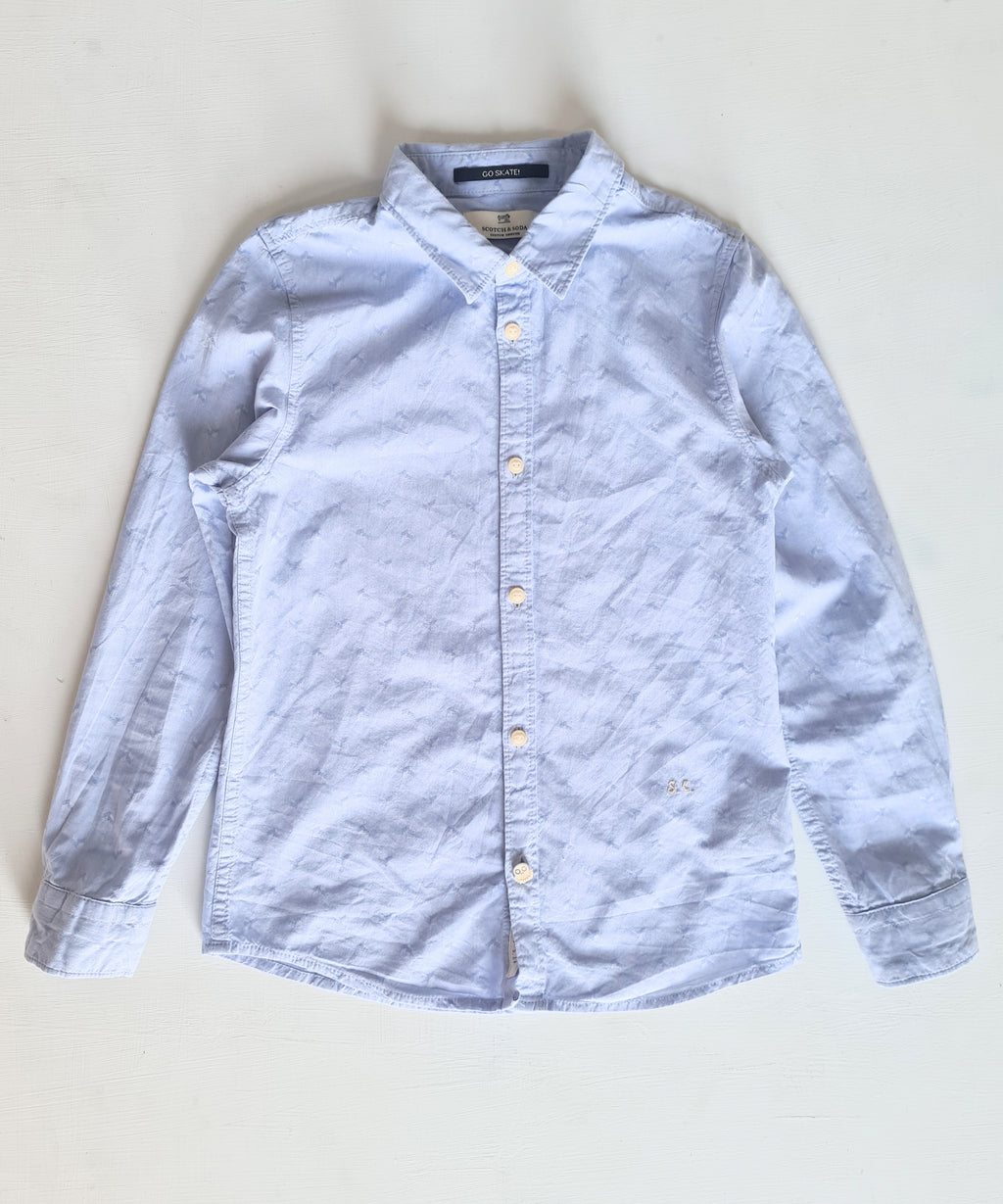 THRIFT Scotch and Soda - Pale Bkue Shirt Size 8