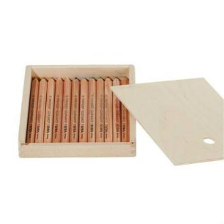 Lyra Colour Giants 12 Natural Assorted Pencils in Wooden Case