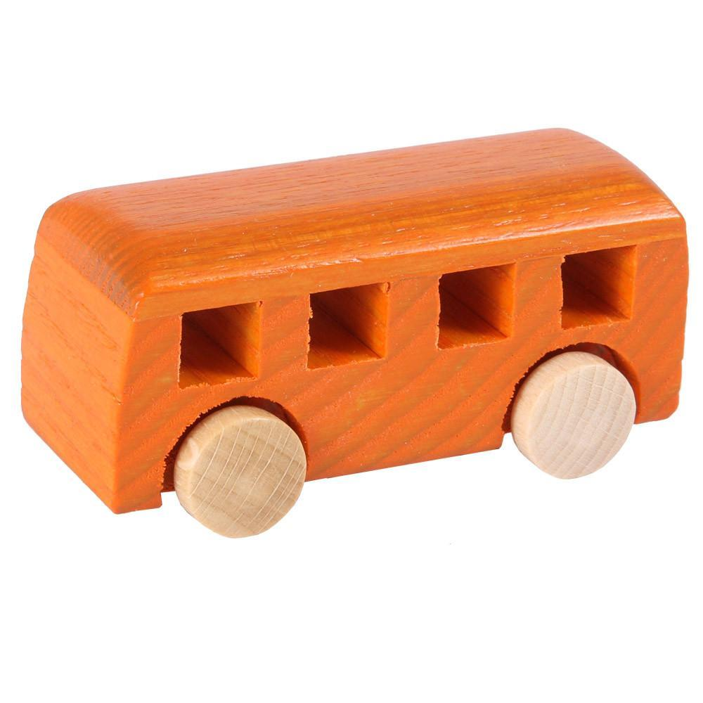 Beck Orange Miniature Wooden Minibus
