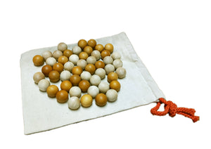 Qtoys - Set of 50 Natural Two Tone Wooden Balls