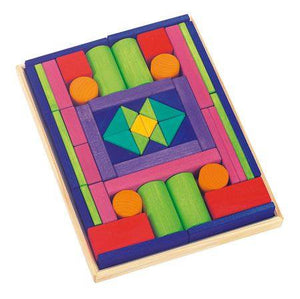 Gluckskafer Wooden Blocks - Provence Large 53 Pieces in Tray