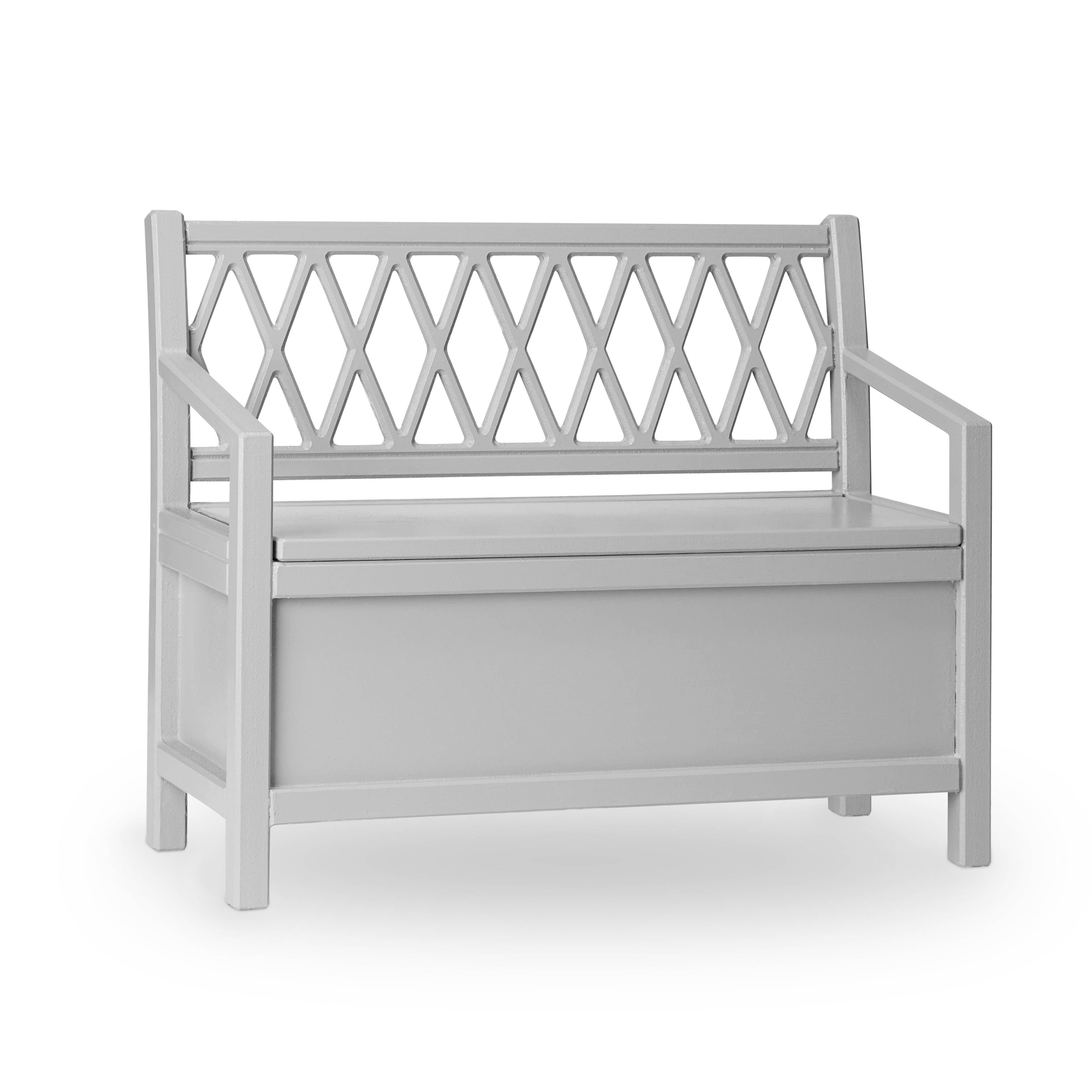 Cam Cam Copenhagen Harlequin Kids Storage Bench Grey