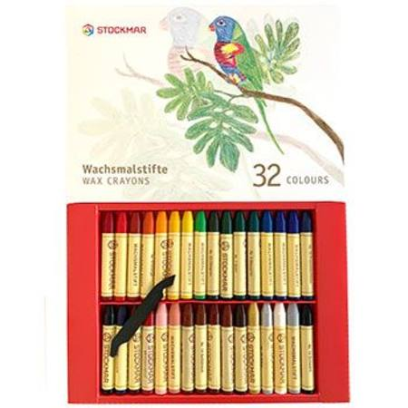 Stockmar Wax Crayons - 32 Sticks in Cardboard Gift Display Box