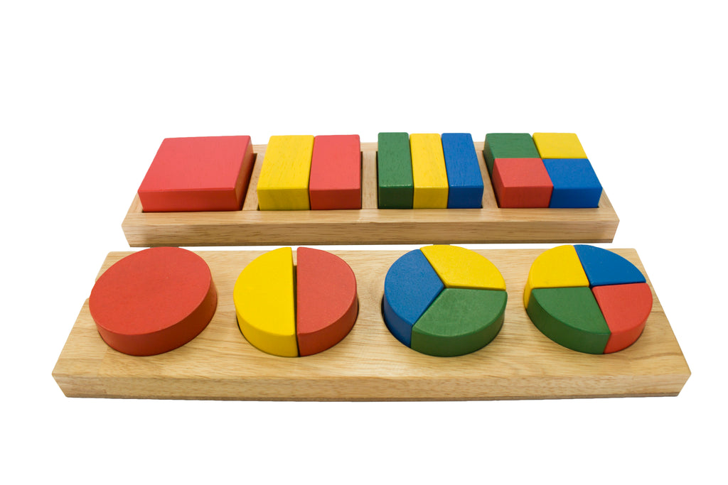 Qtoys Square Wooden Fraction Bar Toy