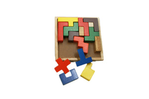 Qtoys Wooden Tetris Blocks Puzzle Toy