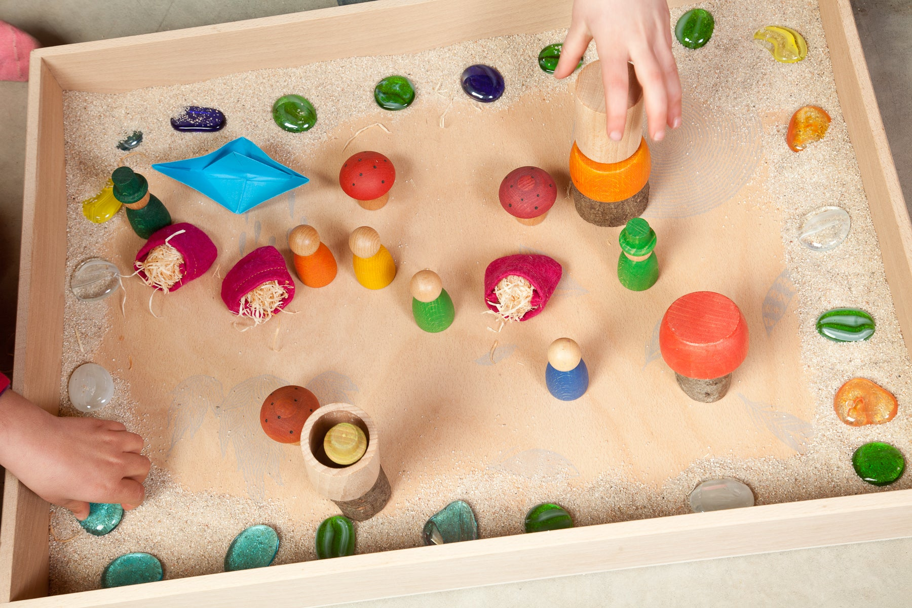 Grapat Extra Large Natural Free Play Box