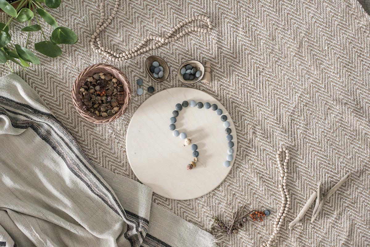 Children_of_the_Wild-Australia Grapat Small Grey Stones - Mandala Wooden Loose Parts