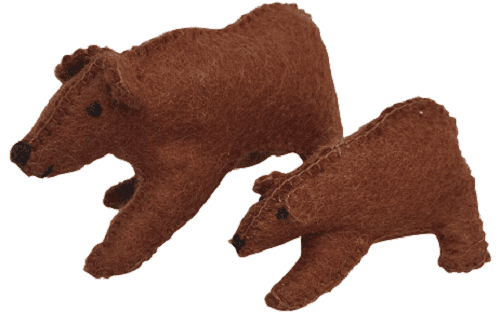 Papoose Fair Trade Felt Mama Bear Toy