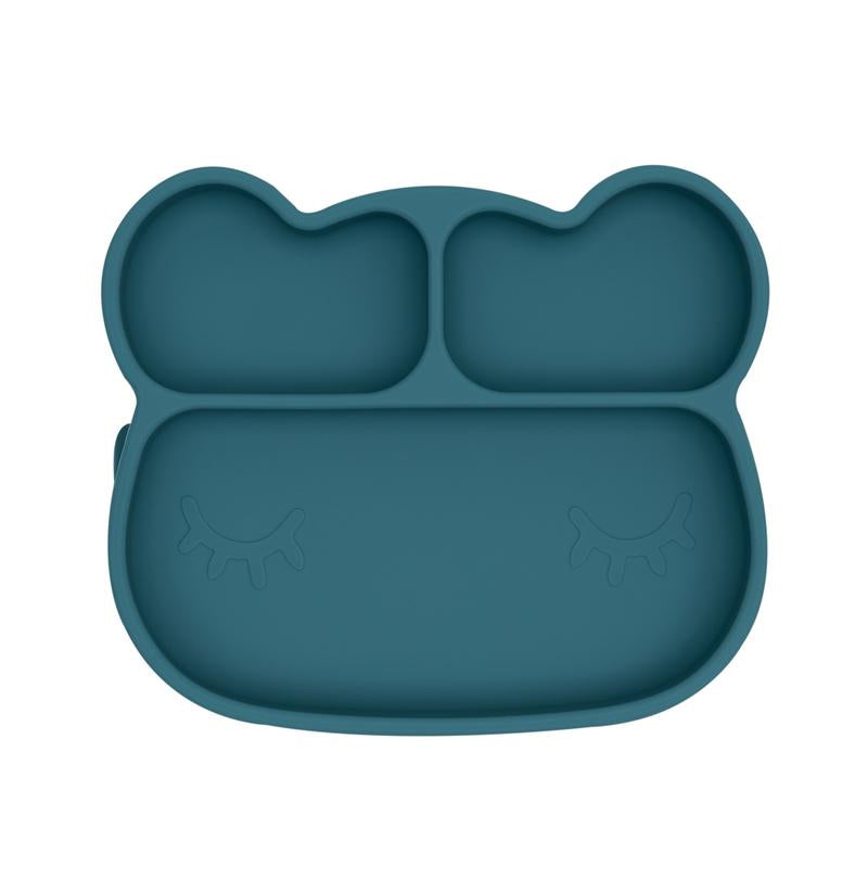 We Might Be Tiny - Bear Stickie Plate - Dusty Blue