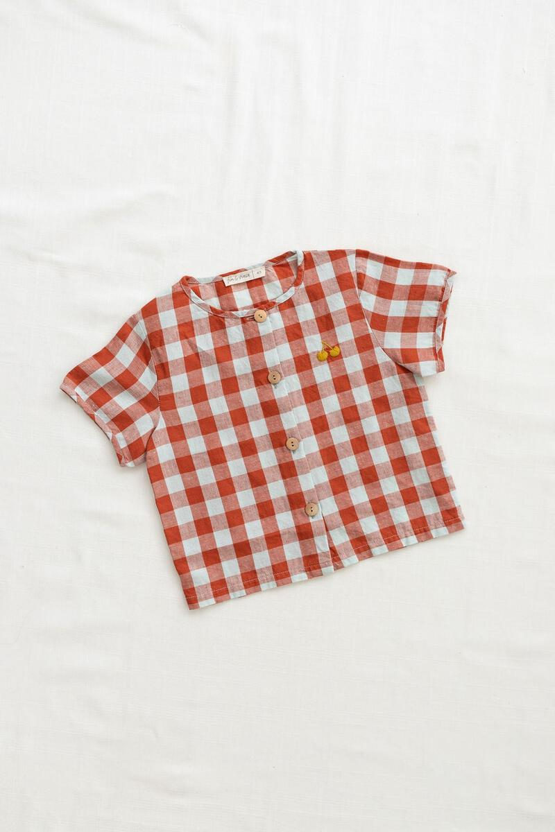 Fin and Vince Button Up Top - Picnic Plaid