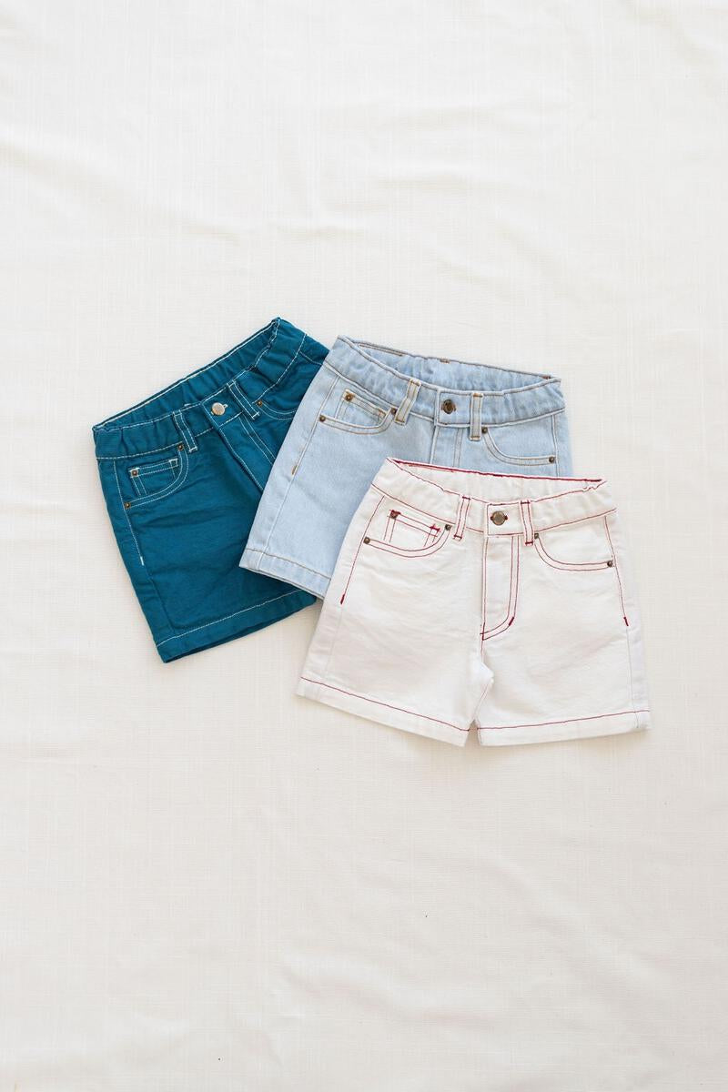 Fin and Vince Vintage Jean Shorts - Bone