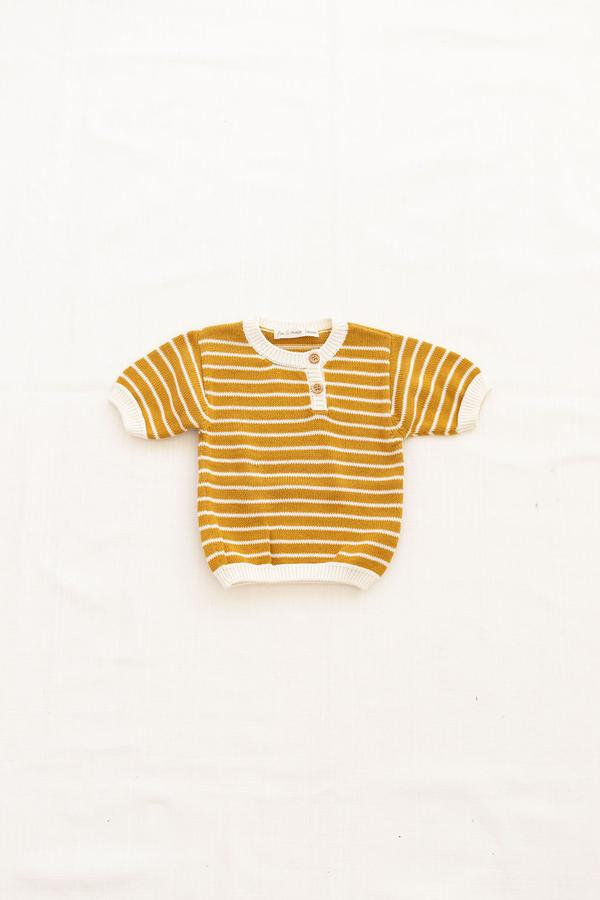 Fin and Vince Zion Knit Top - Goldenrod