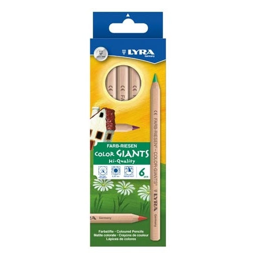 Lyra colour giants unlacquered 6 assorted colours