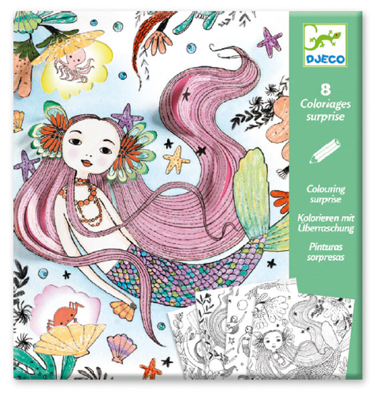 Children_of_the_Wild-Australia Djeco - Under the Sea Mermaid Colouring Surprise