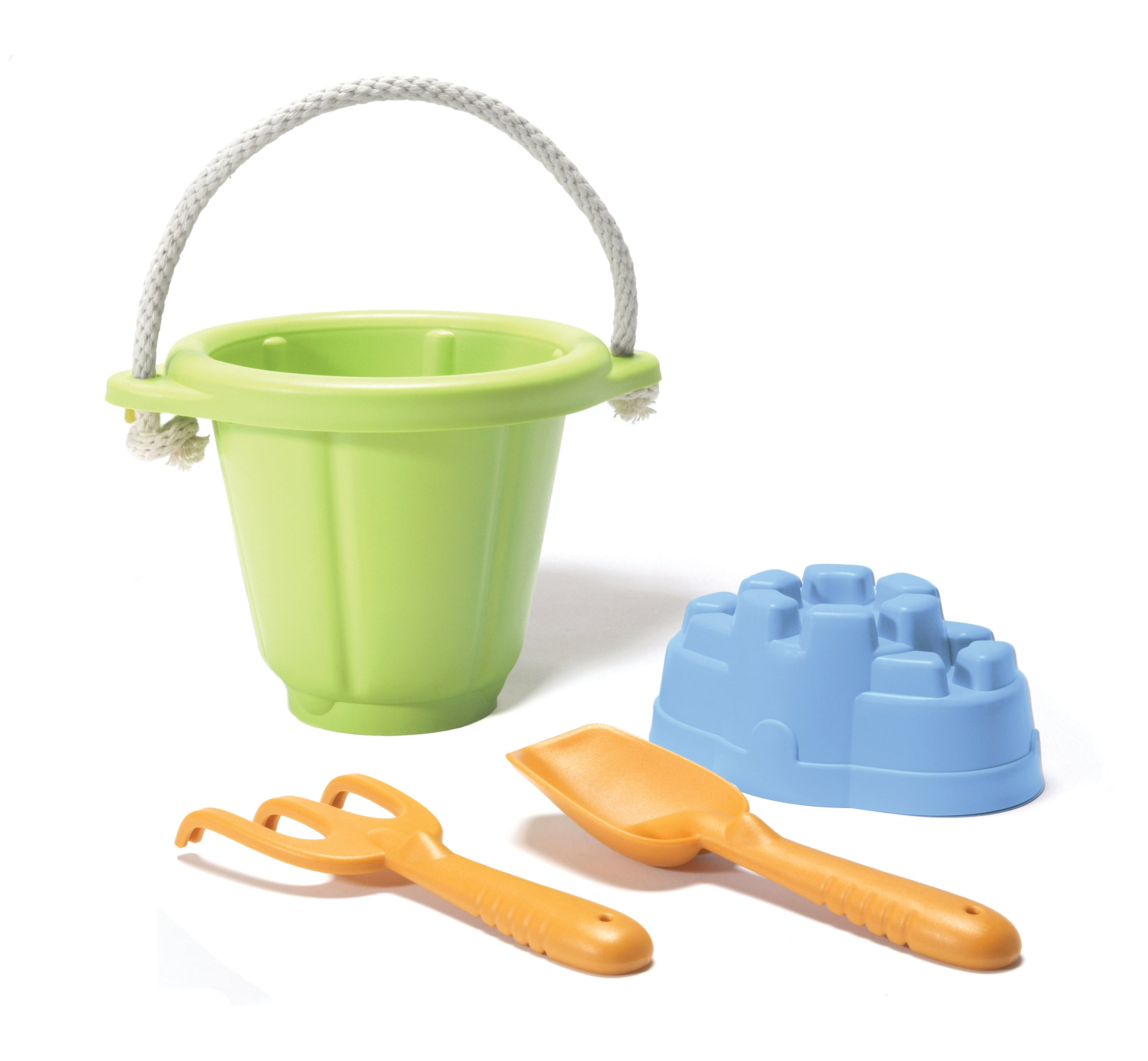 Green Toys - Sand Castle Mould Beach and Sand Pit Set - Green
