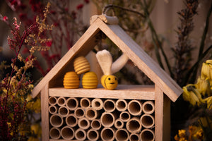 Creative Wood Insect House and Native Bee Hotel