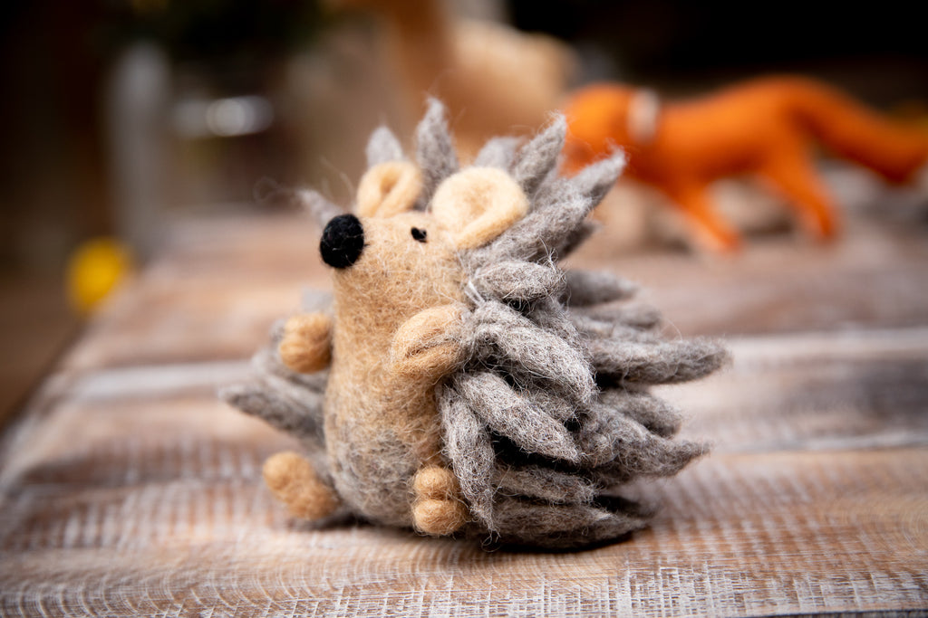 Papoose  Fair Trade Baby Hedgehog Felt Toy