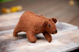 Papoose Fair Trade Felt Bear Cub Toy