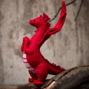 Papoose Fair Trade Dragon Felt Toy