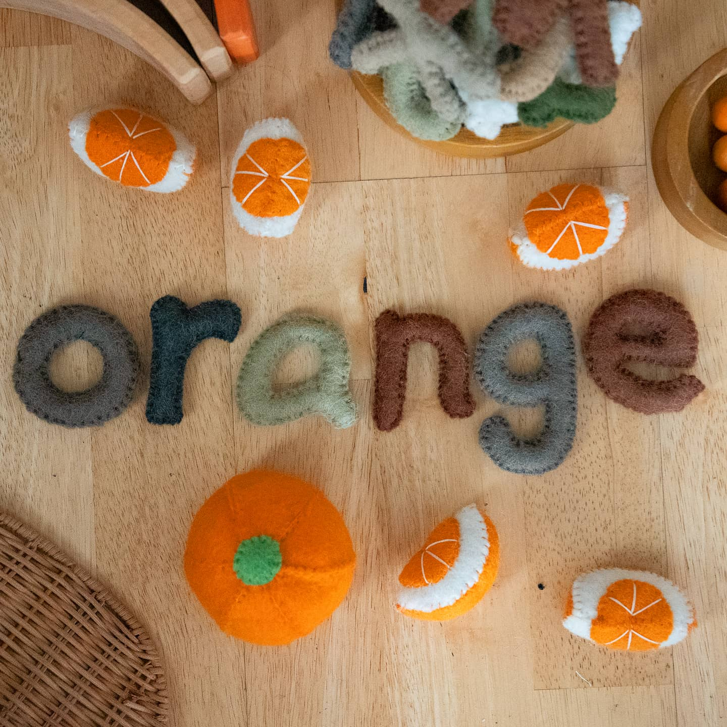 Papoose Fair Trade Felt Orange Slices (6 pieces)