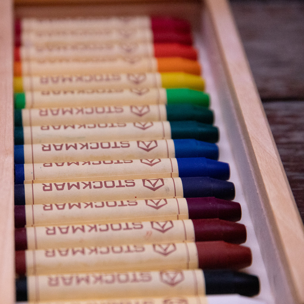 Stockmar Wax Crayons - 16 Sticks in a Wooden Box