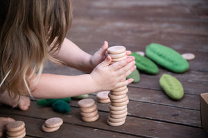 Grapat Wooden Toys - Coins to Count Set