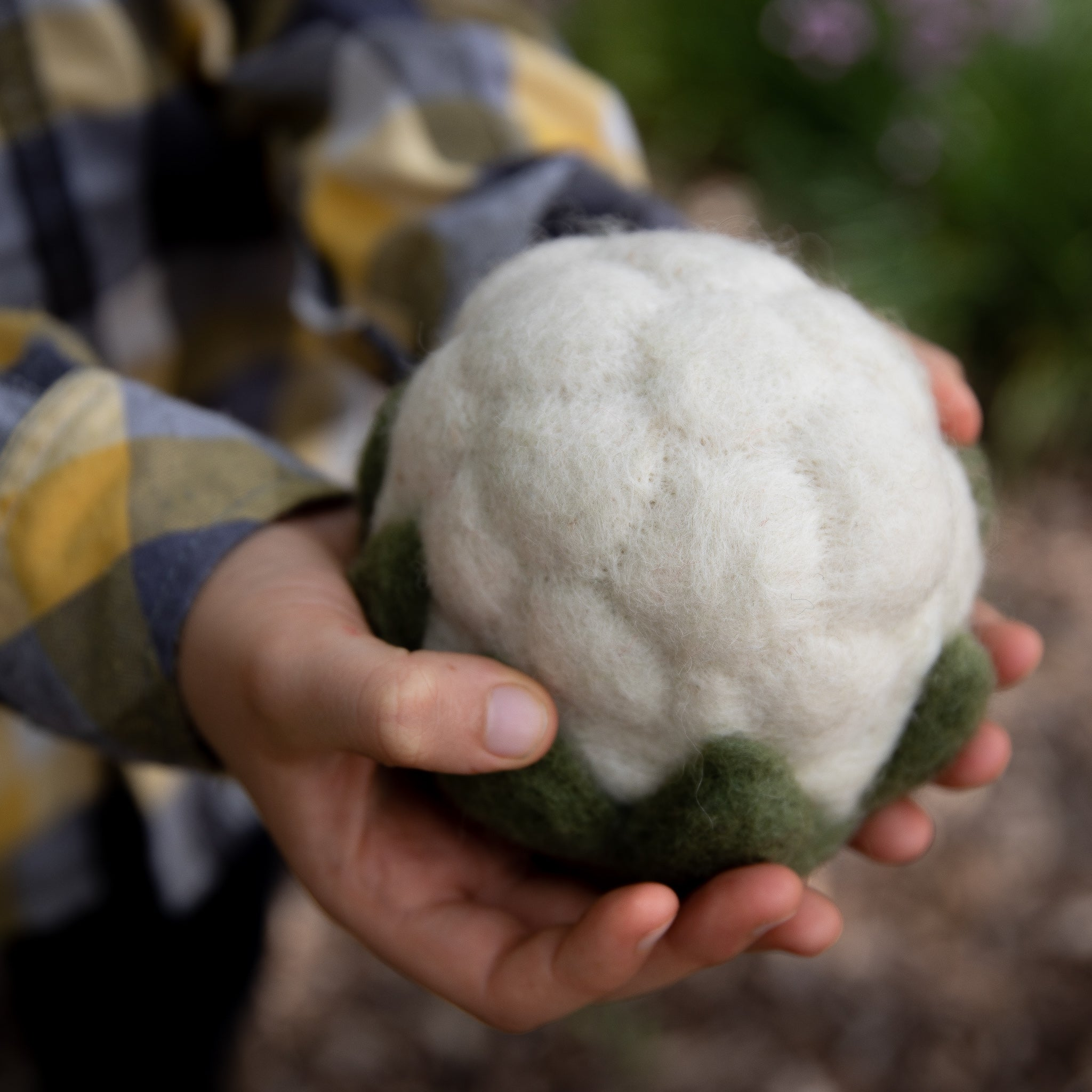 Children_of_the_Wild_Australia Papoose Fair Trade Felt Cauliflower Toy
