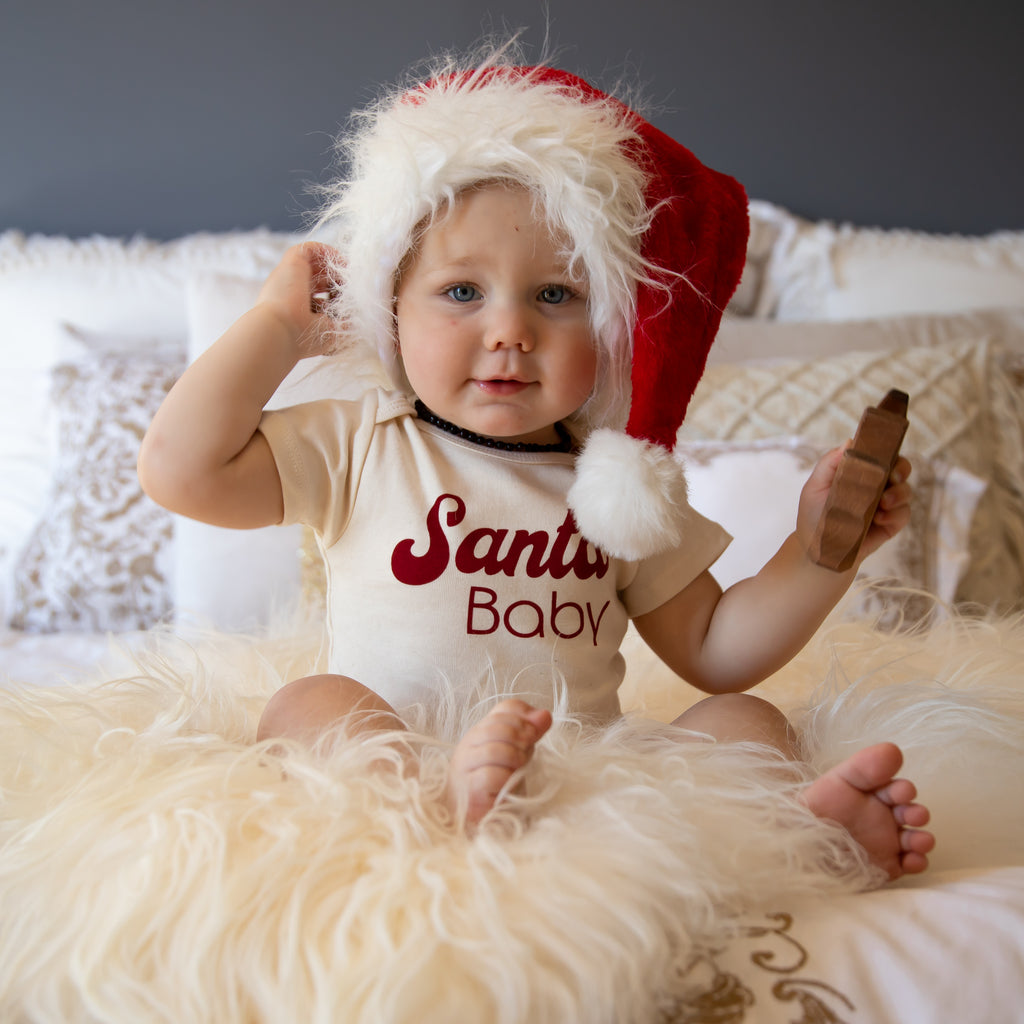 Tenth and Pine Santa Baby Organic Bodysuit