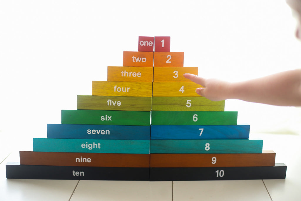 Qtoys Wooden Montessori Counting Rods