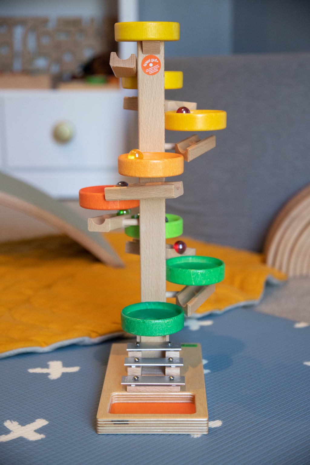 Children_of_the_Wild_Australia Beck Wooden Toys Plate Cascading Tower Rainbow