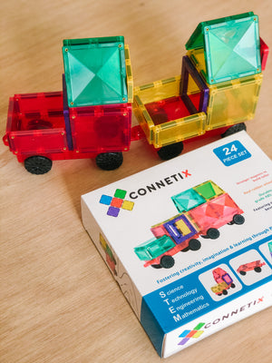 Connetix Magenetic Tile Car Pack
