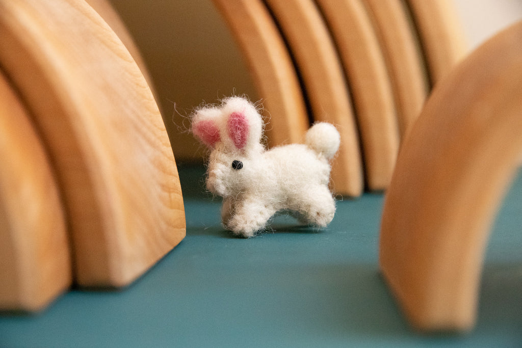 Papoose Fair Trade Itty Bitty Mini Baby Bunny Felt Toy