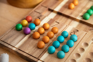 Q Toys Natural Wooden Counting Board