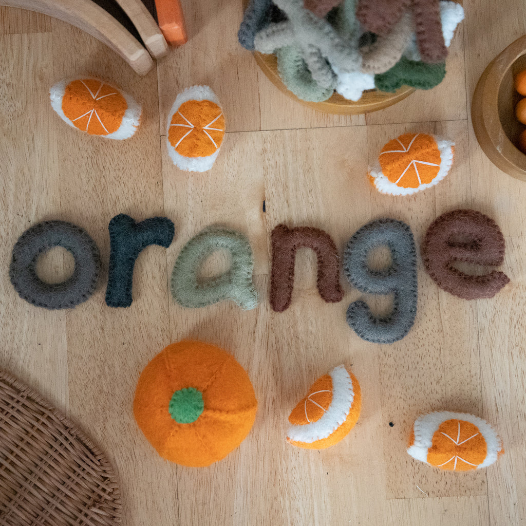Papoose Lower Case Felt Letters