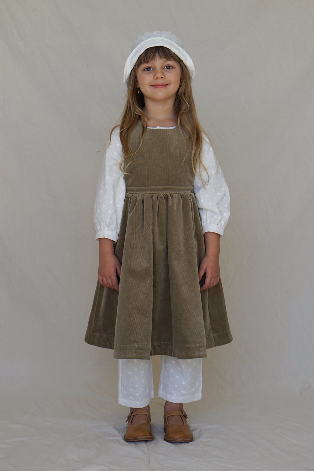 Children_of_the_Wild-Australia House of Paloma Juliette Pinafore ~ Caper Cord, beautifully lined in the softest pure cotton.
