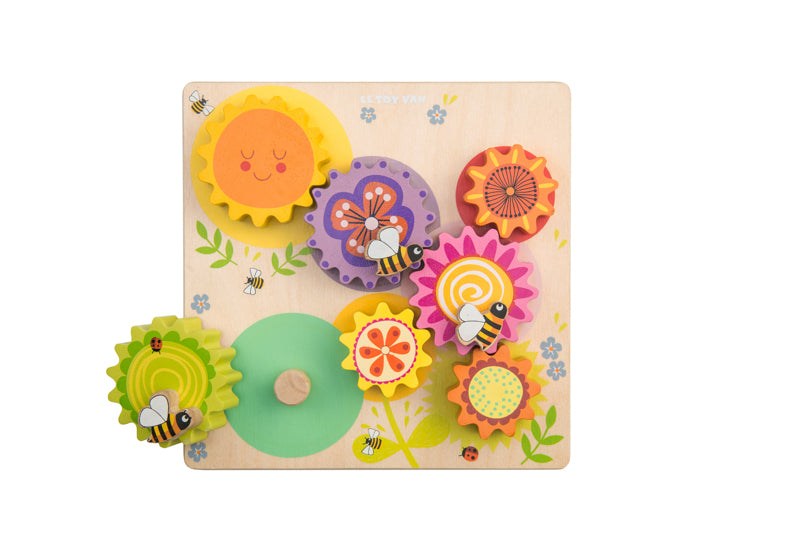 "Le Toy Van - Petilou Gears & Cogs ""Busy Bee Learning"""