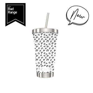 MontiiCo Rad Reusables Smoothie Cup - White Leopard
