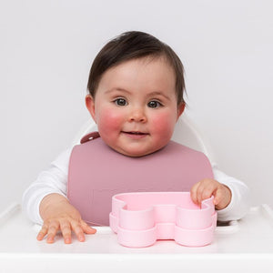 We Might Be Tiny - Catchie Bibs - Dusty Rose + Powder Pink
