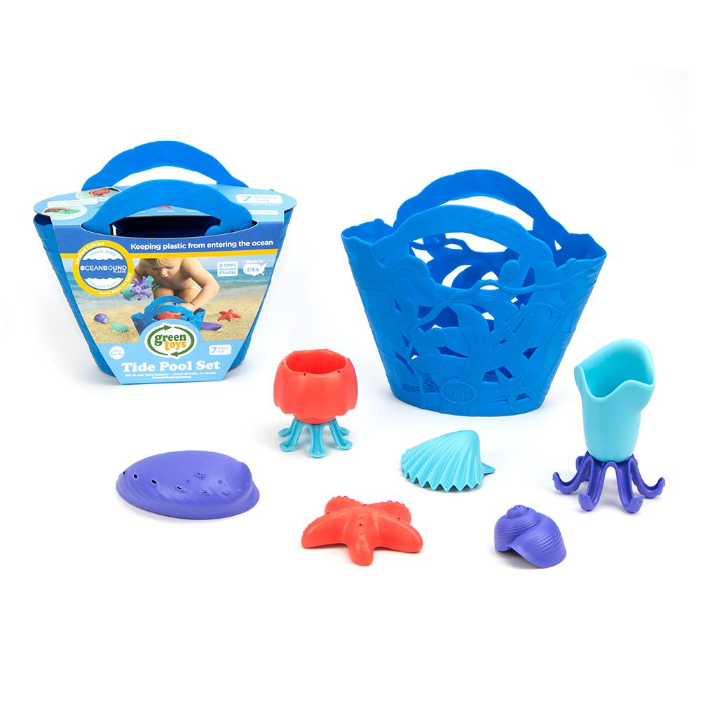 Green Toys Tide Pool Bath and Beach Set - LIMITED EDITION Ocean bound Blue